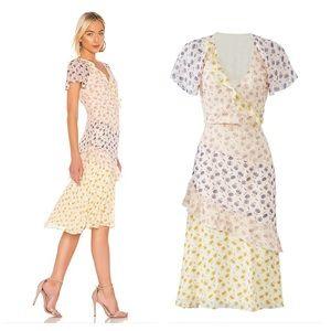 joie silk ruffle floral dress